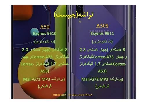 مقایسه سامسونگ a50 با a50s ، مقایسه تراشه سامسونگ گلکسی a50 و a50s