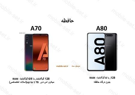 a80 vs a703 - مقایسه سامسونگ a70 با a80 - شما کدومو میخوایی داشته باشی ؟