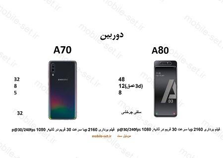 a80 vs a704 - مقایسه سامسونگ a70 با a80 - شما کدومو میخوایی داشته باشی ؟